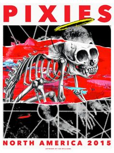 Ian Williams Pixies North Armerica Tour 2015 Poster On Sale Details