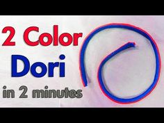 Making Two Color Dori (Piping) | Very Easy Method | BST - YouTube