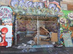 graffiti in trash alcove, lilac alley san francisco Mission District, Alcove, Lilac, Graffiti, Street Art, San Francisco, Fair Grounds, Artist, Lilac Bushes