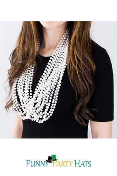 Use as a party favor, or as a table decoration! This bulk pack of white beaded necklaces are adorable for any tea party themed party, princess party, or bridal showers. Bulk Party Favors, Party Favors For Adults, Costume Hats, Costumes, Costume Ideas, Crazy Hats, Pirate Hats, Derby Hats, White Beads