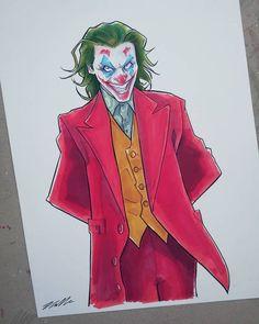 O Joker, Joker Film, Joker And Harley Quinn, Joker Drawings, Cartoon Drawings, Phoenix Art, Joaquin Phoenix, Dc Characters, Marvel Vs