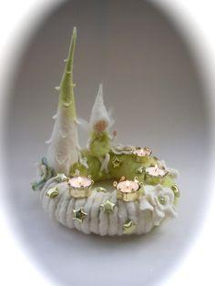 Adventskranz Elfe,Fee.Gefilzt,Filz. von Filz-Art. auf DaWanda.com