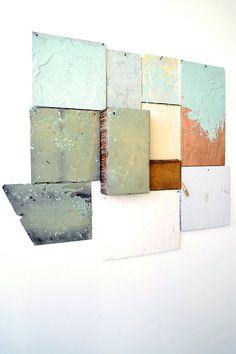 "vjeranski: "" Nan Swid Combination Wall 2 (2009) at Gallery 9E photos by Rodin Banica """