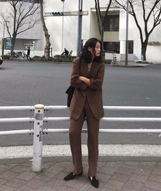 New suits in ! Minimal Fashion, Work Fashion, Coco Chanel, W Two Worlds, Brown Suits, Business Outfits, Work Wardrobe, Types Of Fashion Styles, Suits For Women
