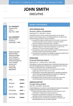 Find the Blue Executive Resume Template on www.cvfolio.com