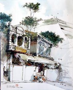 Sketch by Chan Chang How in Katmandu
