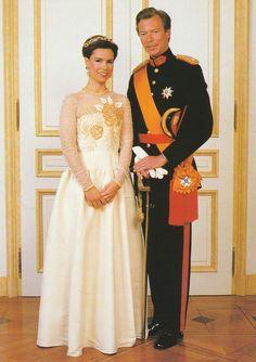 GROSSHERZOGIN MARIA TERESA-HENRI-Adel-Royal-ORIGINAL POSTKARTE-LUXEMBURG