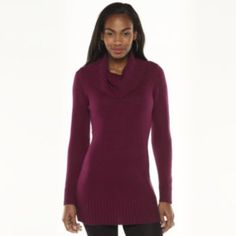 AB Studio Marled Cowlneck Tunic Sweater - Women's