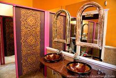 Moroccan Inspired Design at Priya Lounge, Charleston | Royal Design Studio Stencils & Modern Masters Metallic Paint | Paint + Pattern