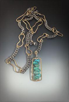 ISAJUL  Stainless steel brass turquoise