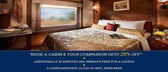 Deccan Odyssey Announced Amazing Discounts - Luxury Train Tour Spa Therapy, Train Tour, Trains, Tours, Cabin, India, Luxury, Home Decor, Homemade Home Decor
