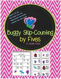 Here is a skip-counting center that's just right for math centers, paired work, or for fast finishers.  This is great for reinforcing a skill that will help students get ready for multiplication and I think it helps with mental math skills as well. I did this in color because it's a center rather than a file that would be reproduced over and over.