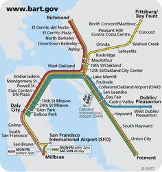 BART (San Francisco Bay Area, California).  Almost as good as the tube ;-)