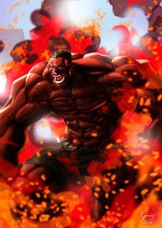 #Red #Hulk #Fan #Art. (Red Hulk) By: Gregory Silva. (THE * 5 * STÅR * ÅWARD * OF: * AW YEAH, IT'S MAJOR ÅWESOMENESS!!!™)[THANK Ü 4 PINNING!!!<·><]<©>ÅÅÅ+(OB4E)