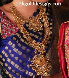 Indian Jewellery Designs: Kundan Necklace and Long Chain