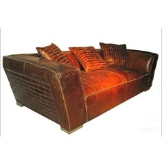 brick-work pattern on side of sofa and throw pillows. Isaiah Sofa