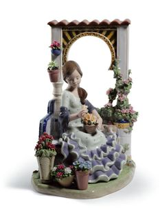Lladro Woman with Peacock | Lladro Limited Edition Woman Girl Flowers Andalusian Spring 01001964 ...