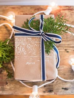 The holiday experts at HGTV.com share 45 creative handmade holiday gift wrap and tag ideas for Christmas.