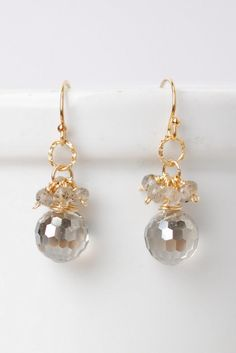 Lucky Charm Crystal Cluster Dangle Earrings