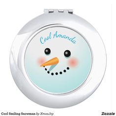 Cool Smiling Snowman Compact Mirror