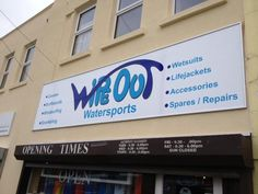 Wipe Out Watersports signage Sheffield
