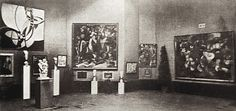 There was a distinct difference between Kahnweiler's Cubists and the Salon Cubists. The SALON CUBISTS built their reputation primarily by exhibiting regularly at the Salon d'Automne (image) and the Salon des Indépendants. They were more aware of public response and the need to communicate. The group began to form in 1910 and included Metzinger, Gleizes, Delaunay and Léger. The group wanted to emphasise a research into form in opposition to the Neo-Impressionist emphasis on color.