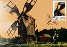 The Postal Picture: Windmill Sunsets