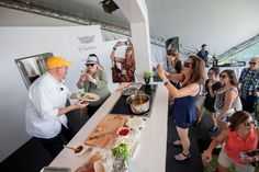 Massimo Capra cooking up a storm at #TasteofToronto // #Toronto #Chef #Food #Celebrity #Fans #Cooking