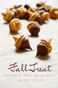 Thanksgiving acorns cookies