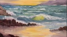 how to paint seascapes in oil - YouTube
