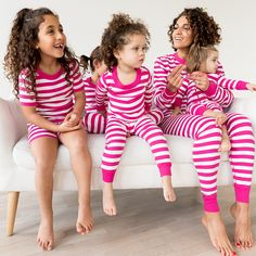 Long John Pajamas In Pure Organic Cotton by Hanna Andersson in Bold Stripes Family Matching
