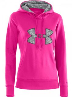 Women's under Armour Big Logo Hoodie #Hibbett4Pink