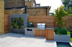 Back Garden Design, Backyard Garden Design, Backyard For Kids, Stone Cladding, Wall Cladding, Outdoor Landscaping, Outdoor Gardens, Modern Gardens, Slate Paving