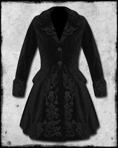 Hell Bunny Victorian/Steampunk Velvet Coat