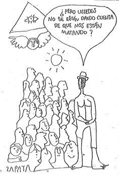 Caricatura de Zapata en la página de Opinión (PEDRO LEÓN ZAPATA / EL NACIONAL). Publicado el 7 de octubre de 1975