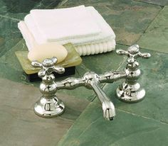 Sign of the crab faucet for pedestal sink