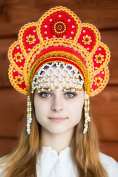 Russian kokoshnik or folk headdresses and a few from neighboring countries esp those that were part of the USSR. In all their myriad forms, costume, Court Tiaras, folk dress ,fancy dress, films, haute couture, toys, and artifacts, everything!