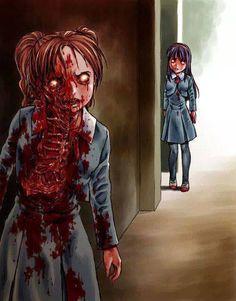 arte - ilustracion - horror - zombie