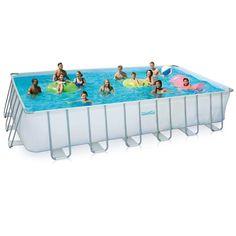 Summer Waves Elite Rectangular Metal Frame Swimming Pool Package, x For Sale Above Ground Pool Prices, Best Above Ground Pool, In Ground Pools, Piscina Intex, Pool Cover Pump, Ludo, Splash Park, Wave Pool, Pool Sizes