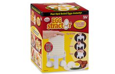 Say goodbye to crunchy egg shells sticking to (and ruining) your go-to snack. The Eggstractor Egg Peeler takes the outer layer off of hard-boiled eggs 10 times faster than you would by hand