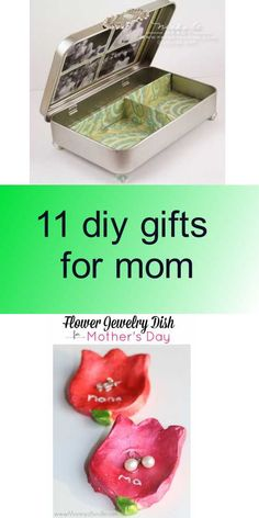 11 diy gifts for mom Diy Gifts For Mom, Diy Tutorial, Decorative Boxes, Dishes, Home Decor, Homemade Home Decor, Plate, Tableware, Cutlery