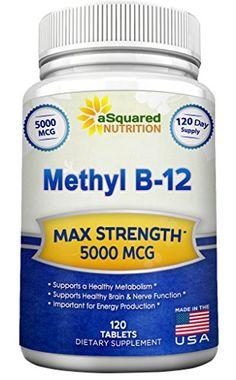 Vitamin B12 - 5000 MCG Supplement with Methylcobalamin (M...