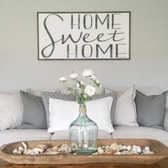 Home Sweet Home- Home Wood Sign- Large Wood Sign-Extra Large Wood Sign- Farmhouse Wood Sign-Living Room Wall Art by hoosierfarmhouse1 on Etsy https://www.etsy.com/listing/553184975/home-sweet-home-home-wood-sign-large