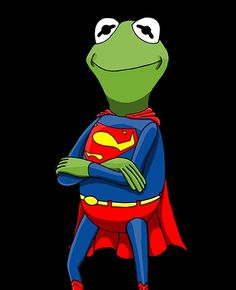 Jim Henson, Good Morning Minions, Frog Wallpaper, Kermit The Frog, Cute Frogs, Cool Cartoons, Cartoon Images, Make Me Smile, Superman