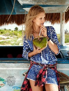 visual optimism; fashion editorials, shows, campaigns & more!: voilà l'été: nadine leopold by hilary walsh for glamour france june 2014