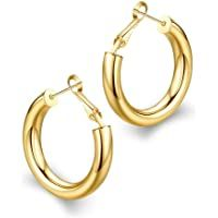 wowshow Thick Hoop Earrings Howllow Gold Plated Gold Hoops for Women Small Gold Hoop Earrings, Gold Plated Earrings, Chain Earrings, Dangle Earrings, Best Amazon Buys, Amazon Products, Women Jewelry, Fashion Jewelry, African Jewelry