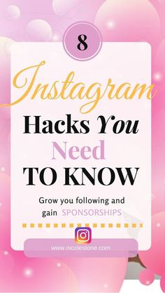 Instagram hacks you NEED to know to gain Instagram followers, traffic, and sponsorships. | Instagram guide | Instagram hacks | Instagram tricks | Instagram followers | gain Instagram followers | Instagram captions | Instagram sponsorships | Make money from Instagram | Influencer | Instagram strategy | FREE INSTAGRAM GUIDE