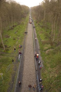 The Trouée d'Arenberg, a Napoleonic road opened for one day in every year. The day of hell. L'enfer du Nord. Paris-Roubaix. Arenberg is an industrial area in Northern France - the hell in du Nord originally referred to the landscape rather than the ride itself - but this is the day to enter the inferno. All ye who enter this place, abandon hope (but live)