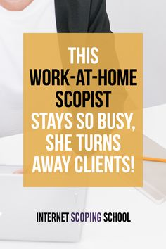 Scoping is a work-at-home job that really IS legit! Hooray!!