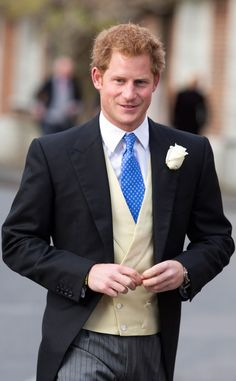 anythingandeverythingroyals: Prince Harry (along with his cousins Princess Beatrice and Princess Eugenie) attended the wedding of friends Jamie Murray Wells and Lottie Fry, Oxfordshire, England, December 2014